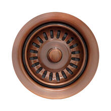 Waste Disposer Trim for deep fireclay sink applications. Includes matching basket strainer.