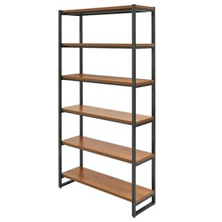 See Details - Anderson KD 6 Tier Bookcase, Gliese Brown