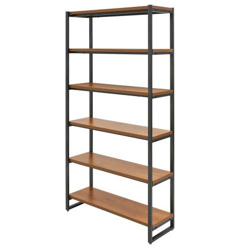 Anderson KD 6 Tier Bookcase, Gliese Brown