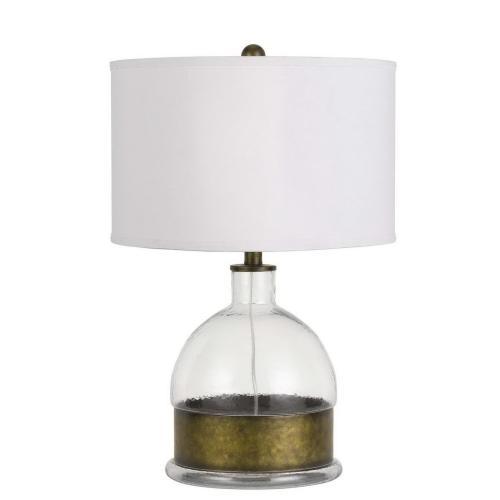 150W 3 Way Rapallo Glass/Metal Table Lamp