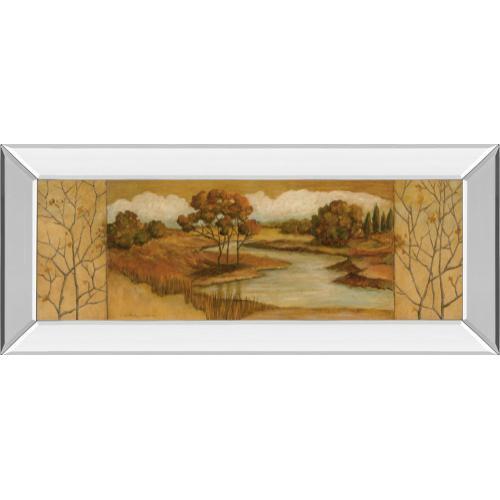 """Classy Art - """"River Scene Il"""" Mirror Framed Print Wall Art"""