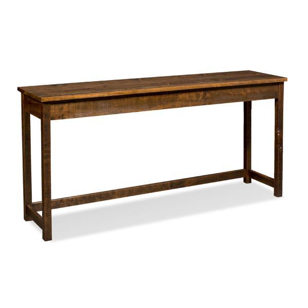 "Incognito Console Bar Table, 72"", Rough Sawn Std."