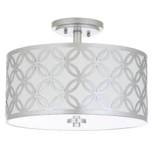 Cecily 3 Light 15-inch Dia Silver Flush Mount - Silver