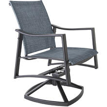 Sling Swivel Rocker Dining Arm Chair