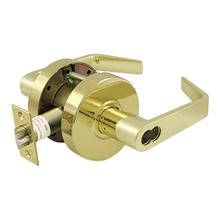 Comm. Storeroom IC Core GR2, Clarendon Less CYL - Polished Brass