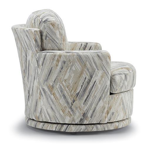 Best Home Furnishings - SKIPPER Swivel Barrel Chair