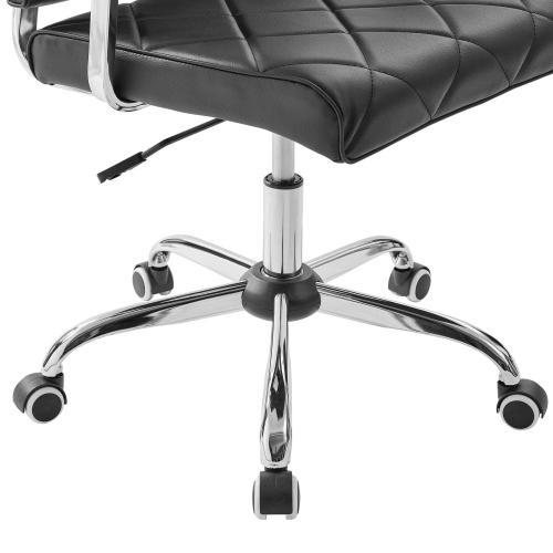 Lattice Vinyl Office Chair in Black