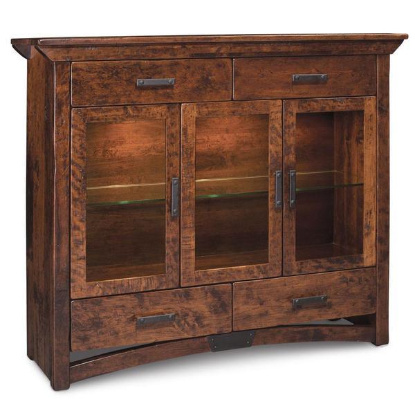 See Details - B&O Railroad Trestle Bridge 3-Door Dining Cabinet