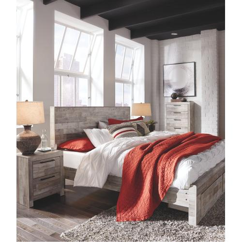 Effie King Panel Bed With 2 Storage Drawers