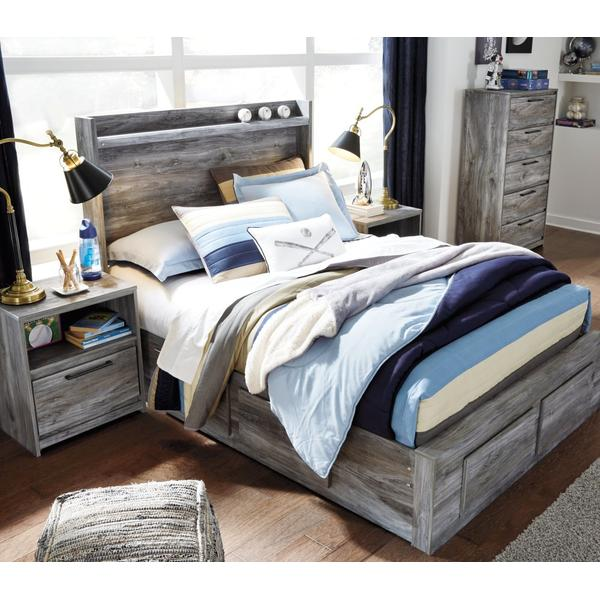 Baystorm Full Panel Bed With 6 Storage Drawers