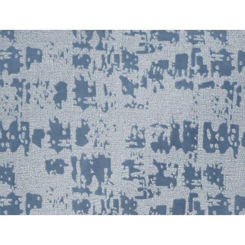 Tov Furniture - Kent Blue Textured Velvet Ottoman