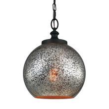 Tabby Mercury Glass Pendant Oil Rubbed Bronze