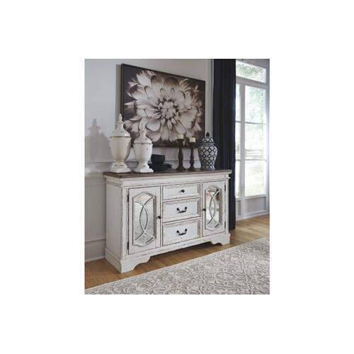 Realyn Dining Room Server Chipped White