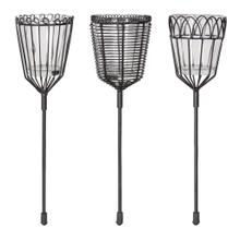 Product Image - Sutton Garden Stake Candle Holder, Set of 6, Black