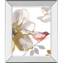 """Bird Chatter I"" By Sandra Jacobs Mirror Framed Print Wall Art"