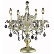 See Details - Maria Theresa Collection Table Lamp Gold Finish 5Lt