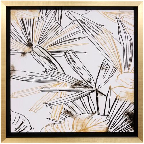 Style Craft - SELVA BLACK & GOLD SKETCH I  27in w X 27in ht  Textured Framed Print  Made in USA