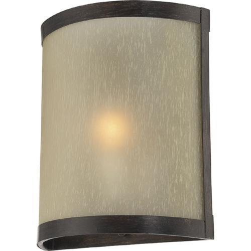 Wall Lamp, Aged Bronze/glass Shade, E12 Type B 60w