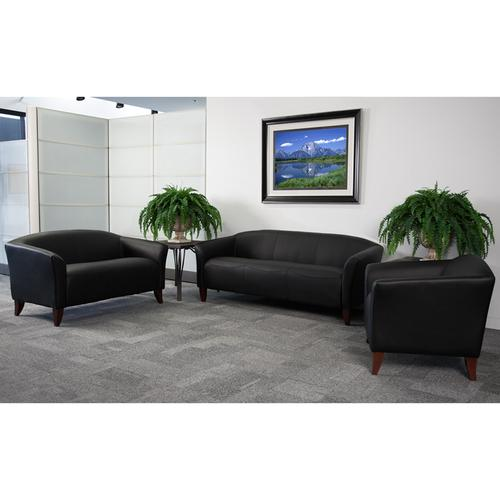 HERCULES Imperial Series Reception Set in Black LeatherSoft