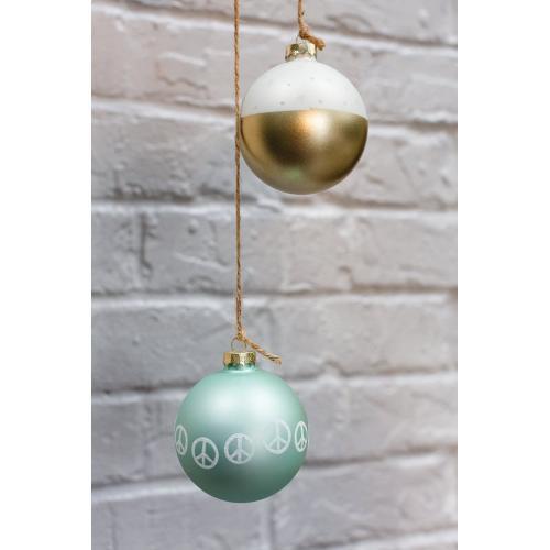 """3"""" Light-Blue Peaceful Ornament"""