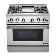 "36"" All Gas, 4 Burner, Griddle"