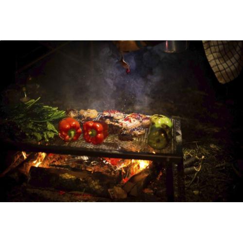 "Lumberjack Over Fire Grill 18""x36"""