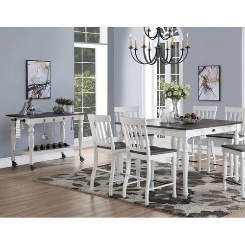 "Joanna Two Tone Counter Table w/18"" Leaf"