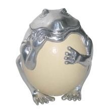 View Product - Frog with Ostrich Egg Sculpture