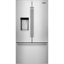 """See Details - 72"""" Counter-Depth French Door Refrigerator with Obsidian Interior, Pro-Style® Stainless Handle"""