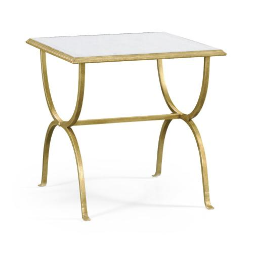 glomise & Gilded Iron Square Side Table