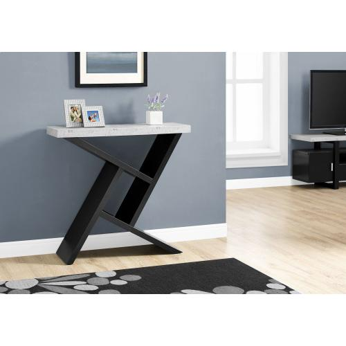 """Gallery - ACCENT TABLE - 36""""L / BLACK / CEMENT-LOOK HALL CONSOLE"""