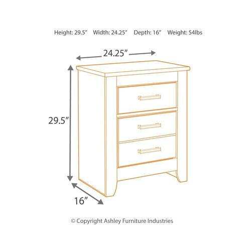 Full Panel Bed With Nightstand