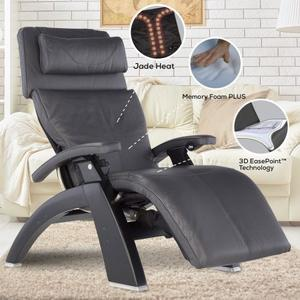 Perfect Chair ® PC-LiVE™ - Gray Premium Leather - Dark Walnut