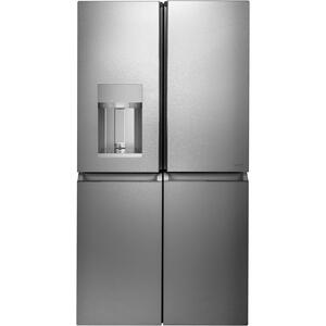 GEENERGY STAR ® 27.4 Cu. Ft. Smart Quad-Door Refrigerator in Platinum Glass
