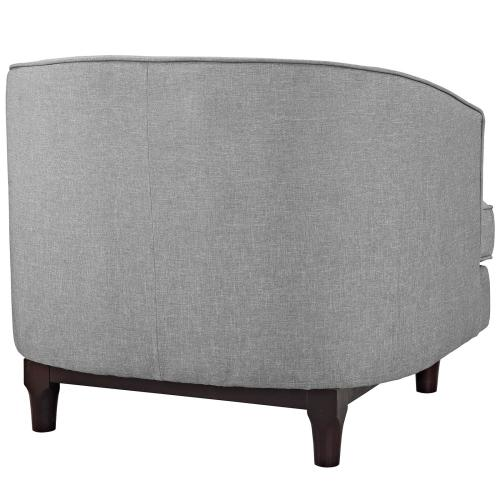 Modway - Coast Upholstered Fabric Armchair in Light Gray