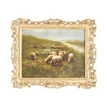Sheep W/shepherd