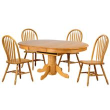 DLU-TBX4266-820-LO5PC  5 Piece Pedestal Dining Set  Arrowback Chairs