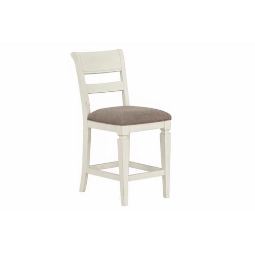 Gallery - Chesapeake Bay 2-Pack Upholstered Counter Height Barstools, White