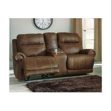 Austere DBL Rec Loveseat w/Console Brown
