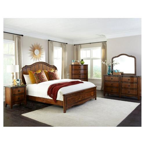 Luciano Queen Panel Bed Universal Rail