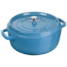Staub La Cocotte 6-qt Shallow Round Cocotte - Visual Imperfections - French Blue