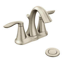 Eva Brushed nickel two-handle high arc bathroom faucet
