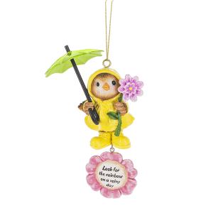 Springtime Showers Bird Ornaments (24 pc. ppk.)