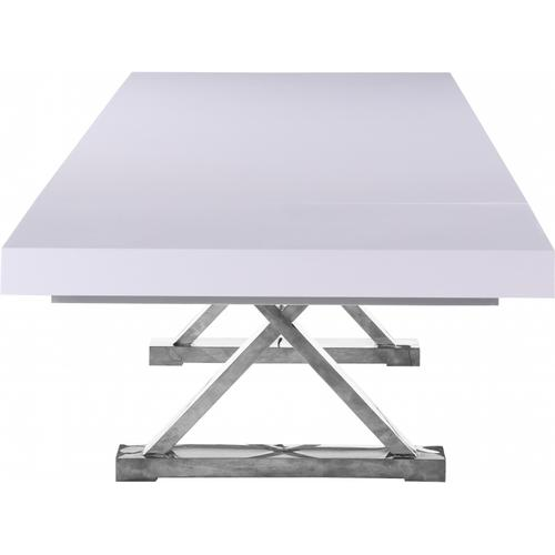 """Excel Extendable 2 Leaf Dining Table - 84""""/123.5"""" W x 43.25"""" D x 31"""" H"""