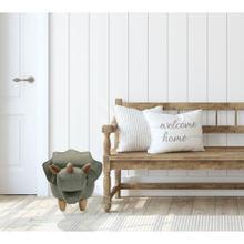 "See Details - Critter Sitters Plush Triceratops Dinosaur Animal Ottoman Furniture for Nursery, Bedroom, Playroom & Living Room Decor, 14"" Seat Height , CSDNOOTT-GRN"