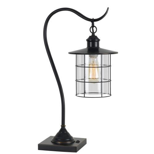 Cal Lighting & Accessories - 60W Silverton Desk Lamp (Edison Bulb included)