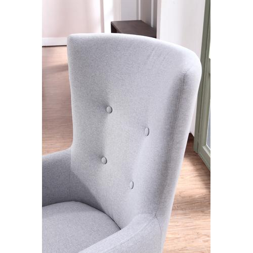 Divani Casa Pacheco Modern Grey Fabric Accent Chair