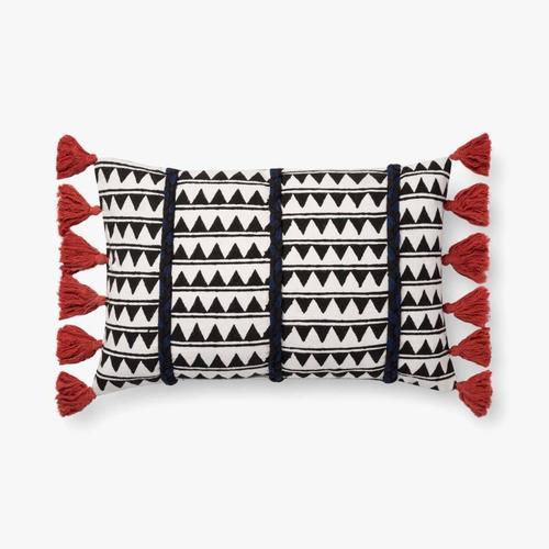 P0670 Indigo / White Pillow