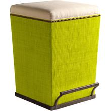 See Details - Ecru Fabric Purveyor Counter Stool in Lime Finish