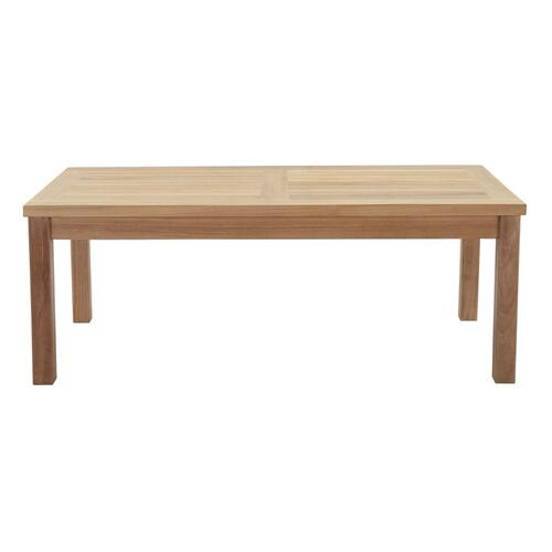 Marina Outdoor Patio Teak Rectangle Coffee Table in Natural